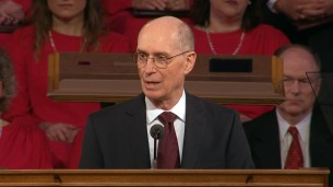 """President Eyring conducted the funeral. He expressed the tender feelings he had and said, """"Elder Scott watched over me...he was for me ever the good shepherd."""""""