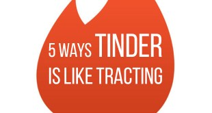 5 Ways Tinder is Like Tracting for Young Single Adults