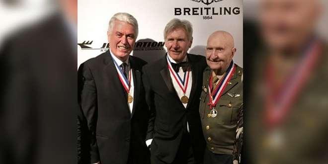 President Uchtdorf Celebrates Aviation with Harrison Ford, Gail Halvorsen