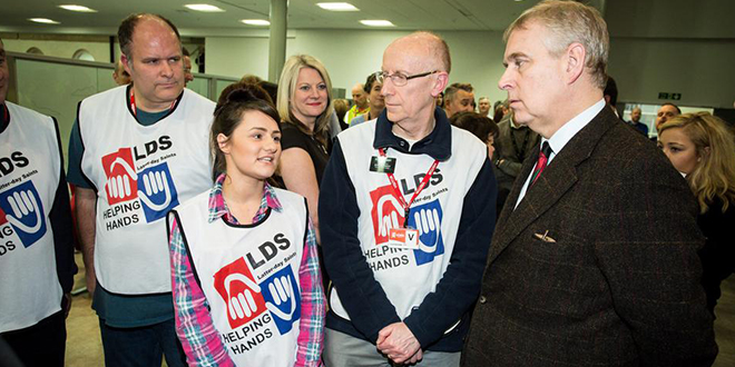 Prince Andrew, Royal Family Thank Mormon Helping Hands Volunteers