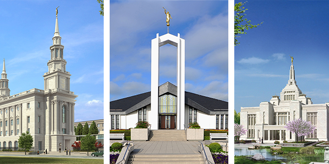 The First Presidency Announces Open House and Dedication Dates for Three Temples