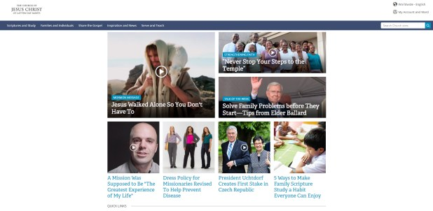 LDS-website-homepage