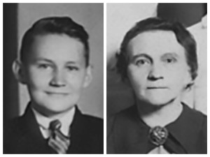 L. Tom Perry and his mother.