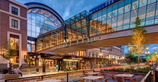 City Creek Center mall in downtown Salt Lake City.