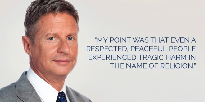 Gary Johnson Publishes Open Letter to Mormons, Utah About Religious Freedom