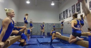 ESPN Declares BYU Women's Gymnastics Team Winners of the 'Mannequin Challenge'
