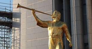 Angel Moroni Statue Tops Rome Temple