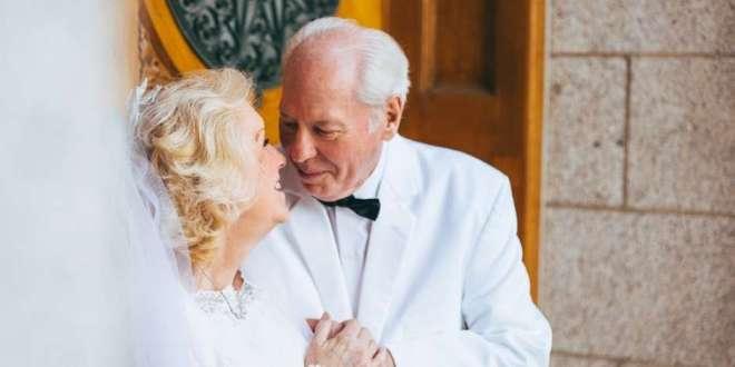 Adorable LDS Couple Recreates Wedding Photos on 50th Anniversary