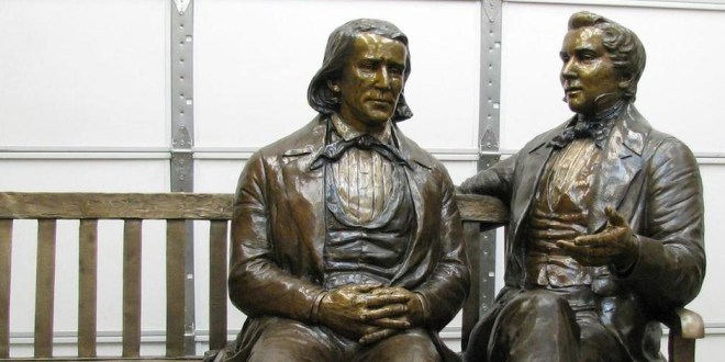 Stolen 800-LB Statue of Joseph Smith & Brigham Young Found