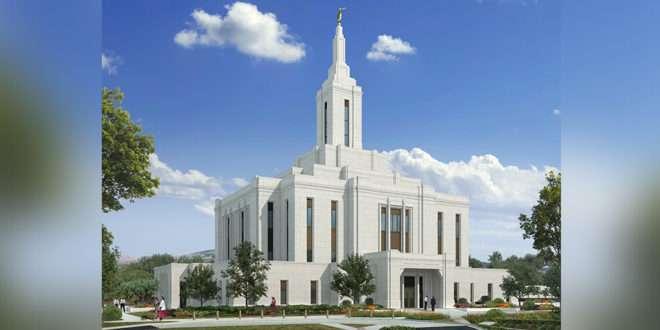 Renderización hermosa lanzada para el templo de Pocatello Idaho