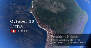 President and Sister Nelson Prepare for South America Tour
