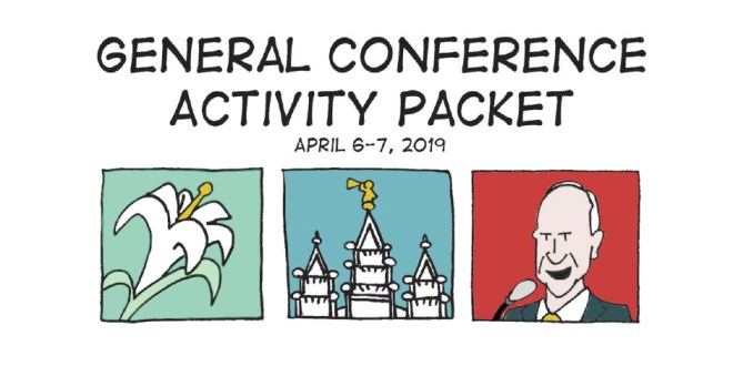 FREE General Conference Activity Coloring + Activity Packets! (April 2019)