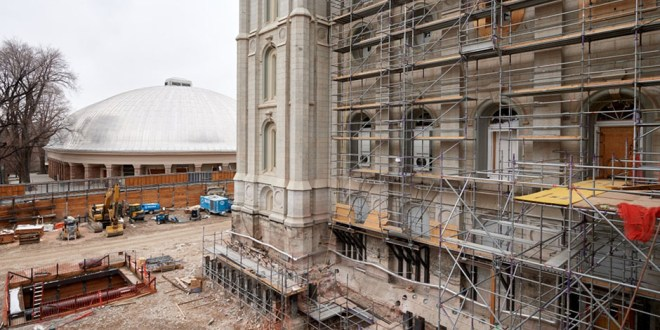 New Photos from Salt Lake Temple Renovation