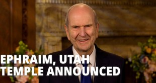 President Nelson Announces Temple in Ephraim, Utah