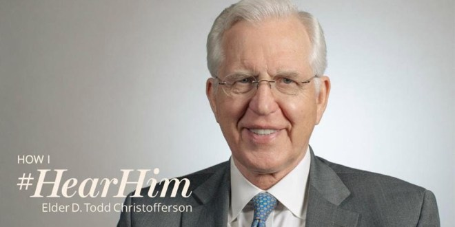 Elder Christofferson Testifies We Need to Be Ready & Willing to #HearHim