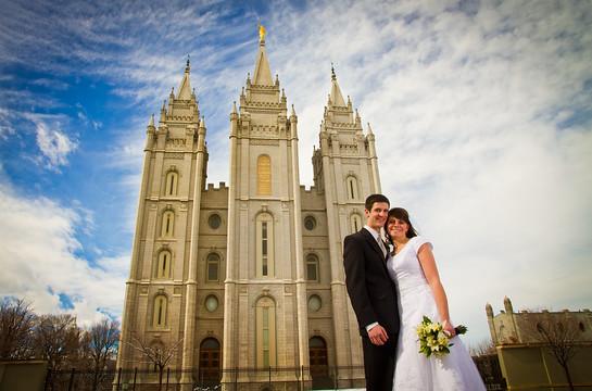 Salt lake City Temple Wedding