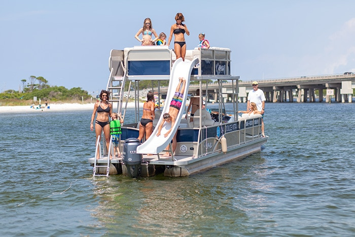 Destin Pontoon Double Slide