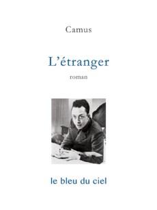 couverture du roman de Camus | L'étranger | 1942