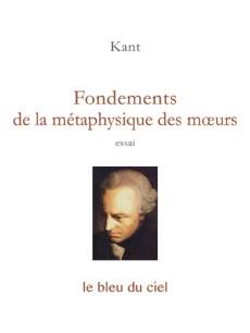 couverture de l'essai de Kant | Fondements de la métaphysique des mœurs | 1785