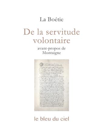 couverture du discours de La Boétie | De la servitude volontaire | vers 1548