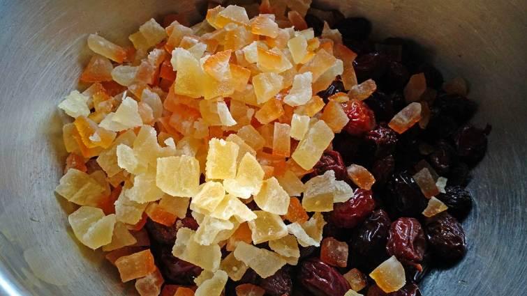 Fruta confitada para Stollen