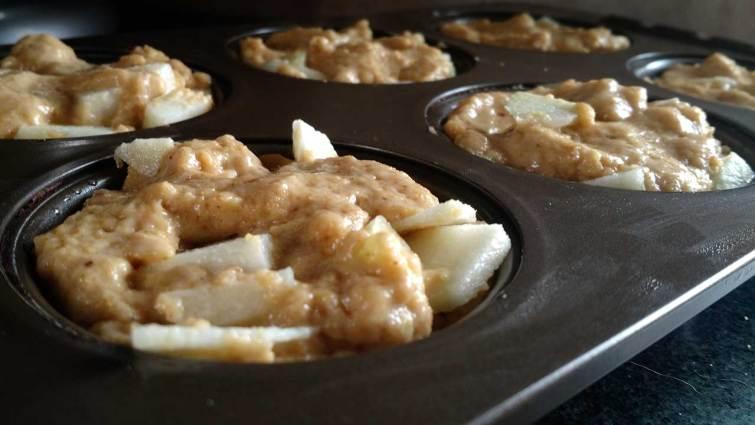 Muffins de masa madre listos para hornear