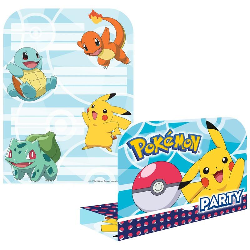 cartes d invitation pokemon lot de 8 le geant de la fete
