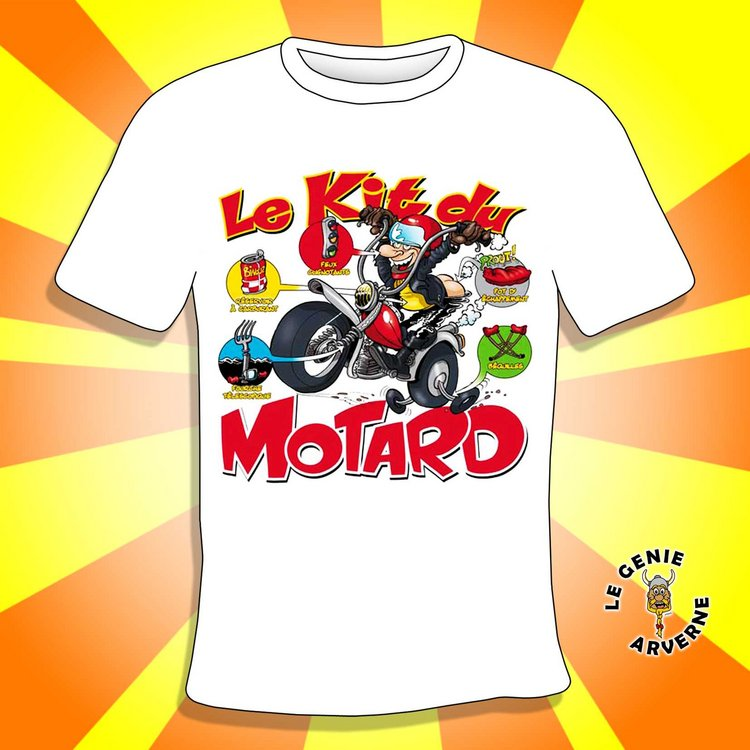 T Shirt Kit Du Motard
