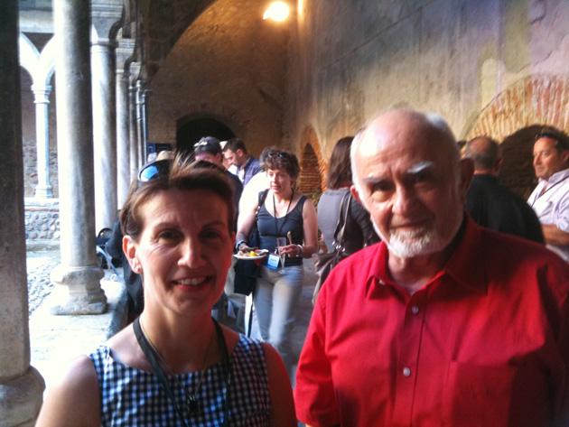 René Olive (PS), maire de Thuir, conseiller général, président de la communauté de commune des Aspres, avec Marie-Thérèse Sanchez-Schmid (UMP), députée européenne, élue de la ville de Perpignan (photo@Archives Festival 2011)