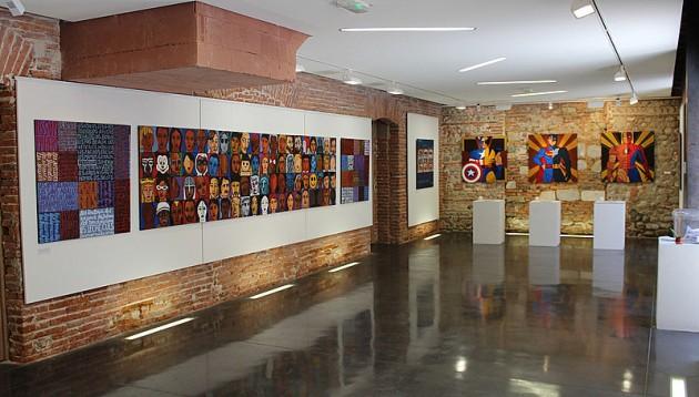 Un espace dédié à l'Art Contemporain à Maison de la Catalanité  Plaça Josep Sebastià Pons à Perpignan – Photo © Le Journal Catalan.