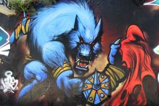 « Je fais partie d'une catégorie qui sort du graffiti pour aller vers la fresque. » – Photo © le journal catalan.com