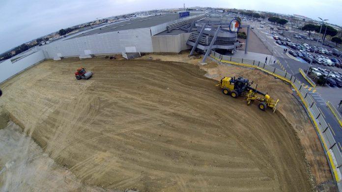 La société Malet en charge des travaux de VRD inscrits dans le projet d'extension de l'hypermarché E. Leclerc ESPACE POLYGONE situé au Nord de Perpignan (66)