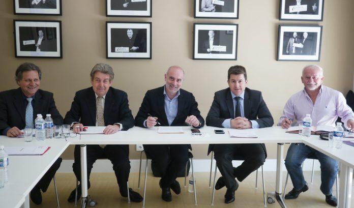 Gerard Capdet, Bernard Fourcade, Laurent Gauze, Alexandre Mélidonis et Michel Guallar