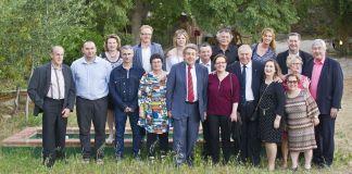 La nouvelle présidente de la Fdac 66 Céline Sabater entourée du Conseil d'Administration et du Bureau. Crédit photo : R. Michelin/CCI Perpignan