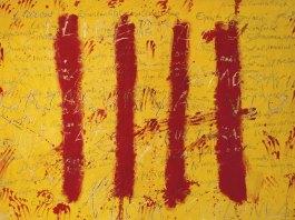 Tàpies-Catalan-couleurs-drapeau