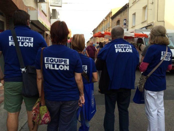 l'équipe-francois-fillon-a-tracté-au-marché-d'Argeles-sur-mer