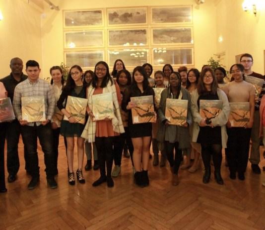 Réception de lycéens américains à la mairie de Perpignan