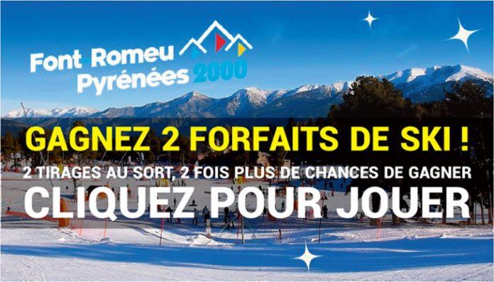 JEUX-CONCOURS FORFAITS SKI LE JOURNAL CATALAN TVCAT