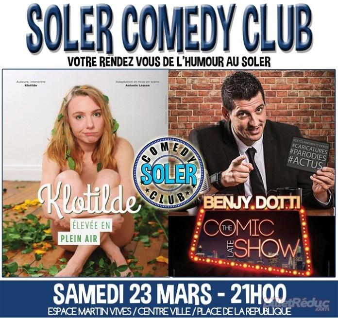 Le Soler Comedy Club au Soler, samedi 23 mars, de la fraicheur et de la caricature au programme...