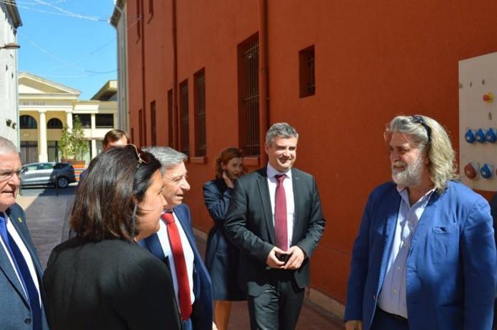 Visite du Préfet au Soler
