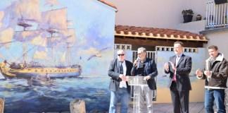 Inauguration de la fresque de l'Hermione Place Castellane