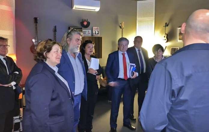 Etienne Guyot, préfet de la région Occitanie visite la ville du Soler autour du projet du Pôle Numérique