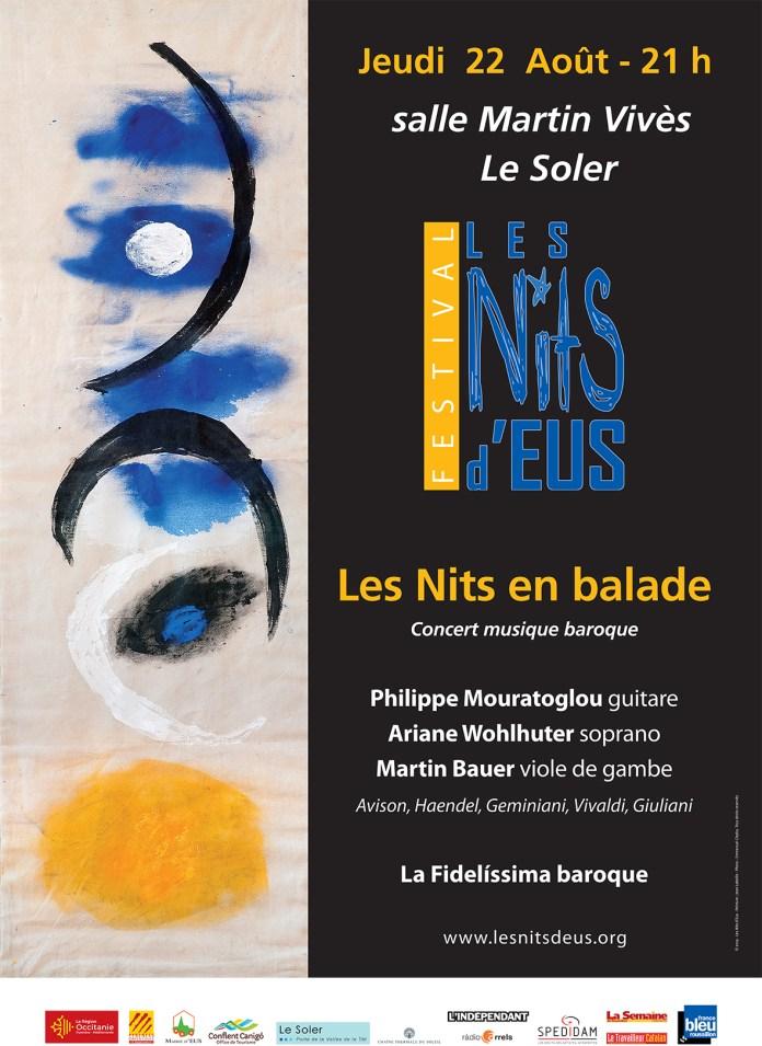 Les Nits d'Eus au Soler, musique baroque le jeudi 22 août 2019