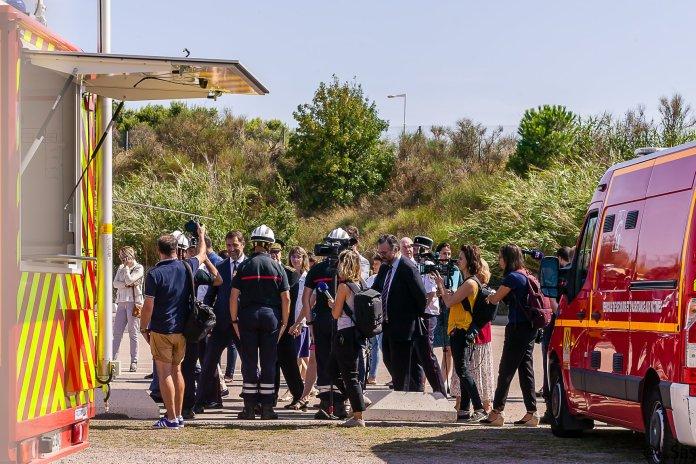 Visite du ministre Christophe Castaner au SDIS 66 de Perpignan