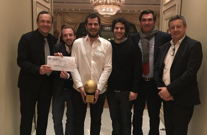 Le Prix Sauvy 2019 des Cadres Catalans remis en février dernier au Shangri La lors du WineBusiness Club à l'equipe de Pousse-pousse.