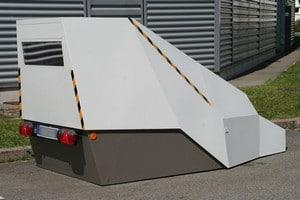 radar provisoire autonome de chantier