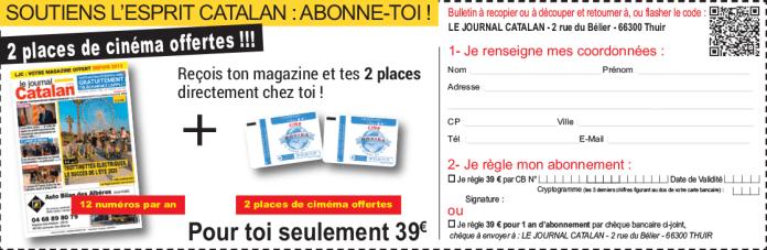COUPON ABONNEMENT Le Journal Catalan Perpignan