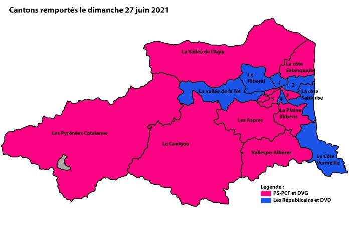 Pyrénées-Orientales/ Elections départementales 2021 :La Gauche recule mais reste majoritaire