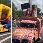Les véhicules insolites du Tour De France de passage en Lorraine