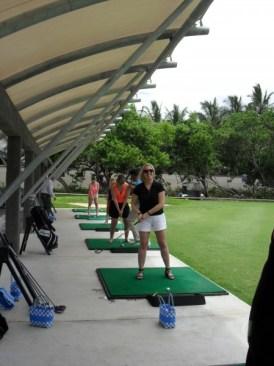 Premier cours de golf !